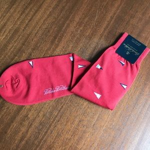 Brooks Brothers Men's Red Socks Signal Flags NWT